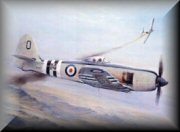 Hawker Sea Fury Aviation Art